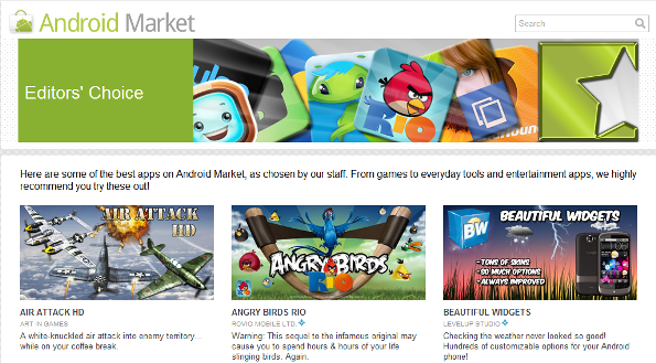 editors choice at android app market