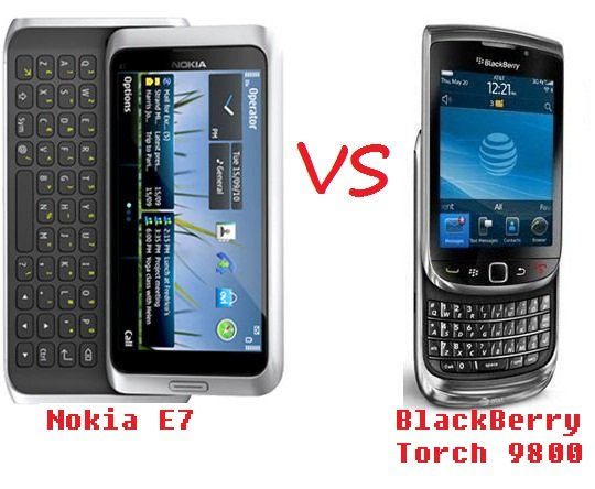NOKIA E7 VS BLACKBERRY TORCH