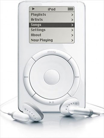 Steve Jobs unveils ipod_first_gen