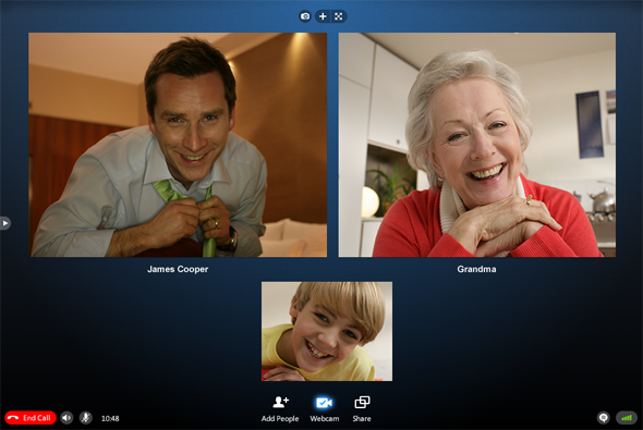 Skype group video call