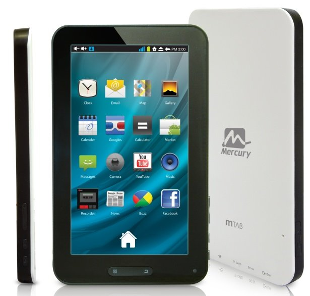 Mercury mTab- 7-Inch Budget Android Tablet - Review, Specs ...