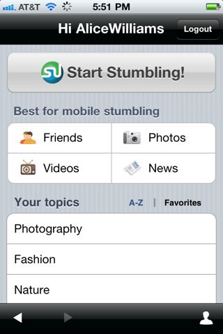 stumbleupon iphone app new features