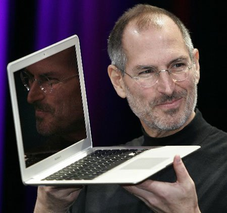 Steve Jobs unveils macbook air