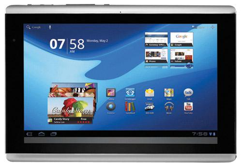 gateway a60 android honeycomb tablet specs