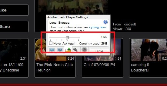 reduce buffering of flash player 2