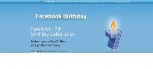 [Facebook Scam] Get free Facebook T-Shirt on 7th Birthday