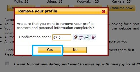 How to delete free online dating account