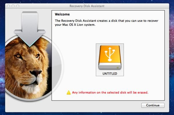 OS X Recovery Disk Assistant