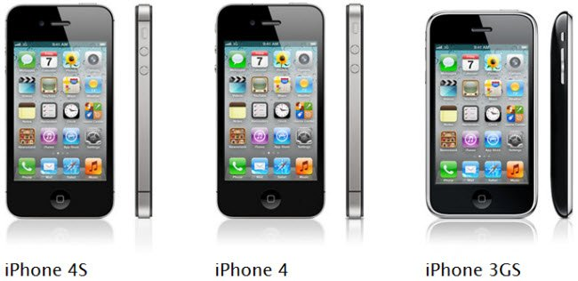 iPhone 4S, iPhone 4, iPhone 3GS