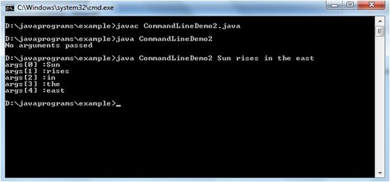 java command line argument