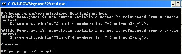 Static in java