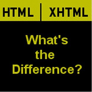 differences between HTML and XHTML