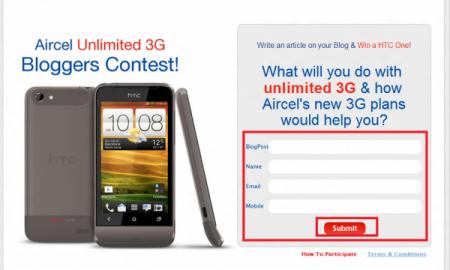 Aircel 3G Contest