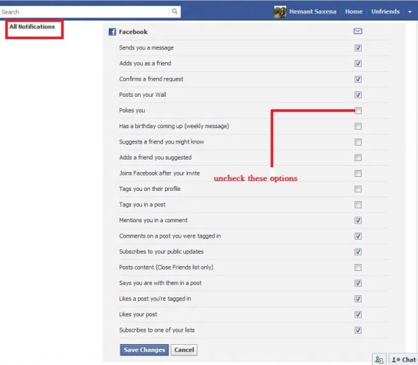 how to turn off what other friends likes on facebook