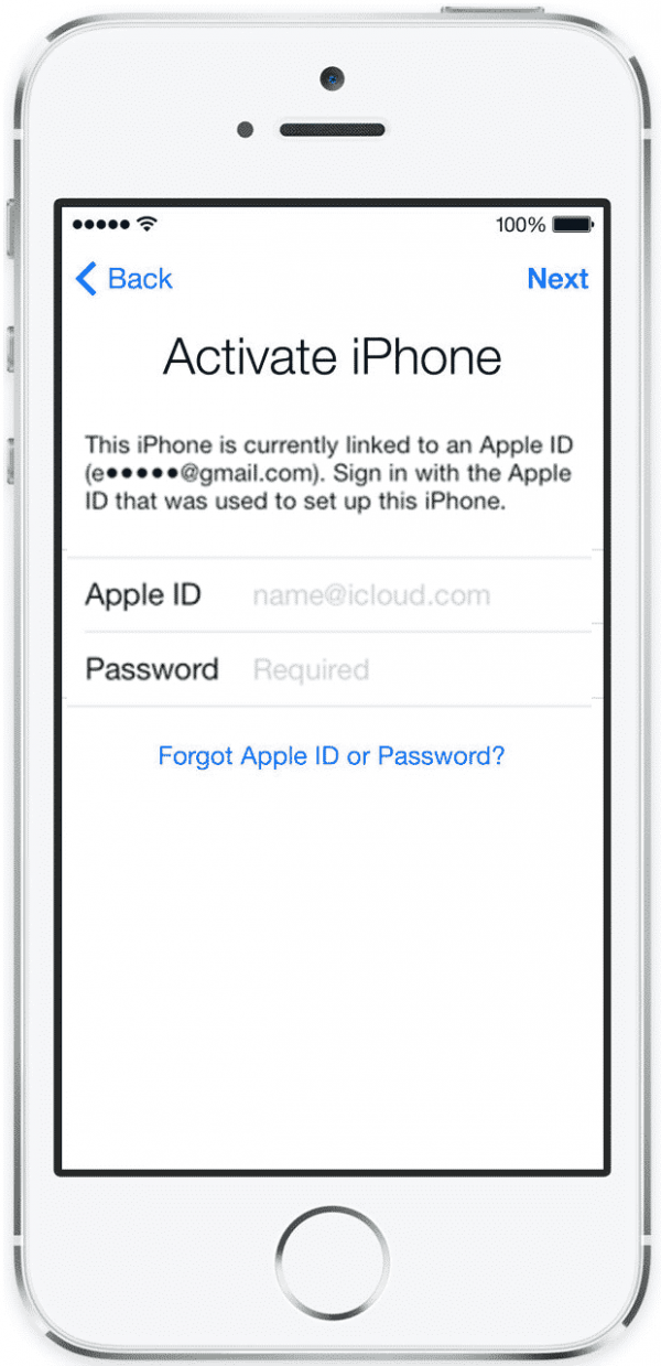 Start over activation of iPhone