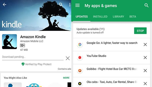 Google PlayStore multiple downloads