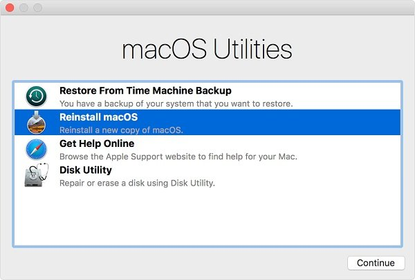 Disk Utility hard reset MacBook Pro or Air