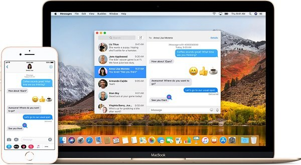 answer iPhone calls or messages on MacBook