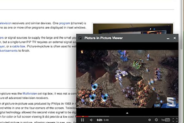 enable Picture-in-Picture mode in Google Chrome