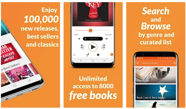 Audiobooks premium lets you listen to Audiobooks service lets you  listen to Audiobooks on Android