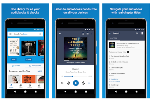 Google play books lets you read free EBooks on Android phone