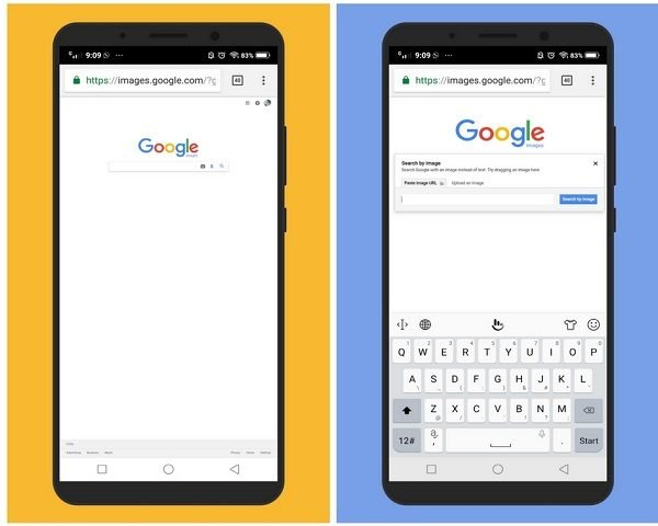 Reverse search images on Android using Chrome