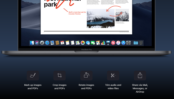 Annotation Tools in macOSX List of new features of macOS Mojave