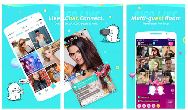 Bigo Live Best Android apps to Video Chat with Strangers