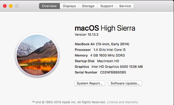 MacBook eligible for macOS Mojave upgrade