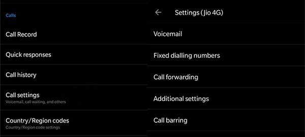 Configure call waiting and forwarding in OnePlus 6