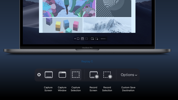 Screen Recording in MacOSX List of newfeatures of macOS Mojave