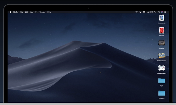 Stack Files in macOSX List of new features of macOS Mojave