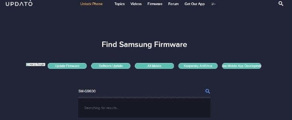 Updato Firmware Search