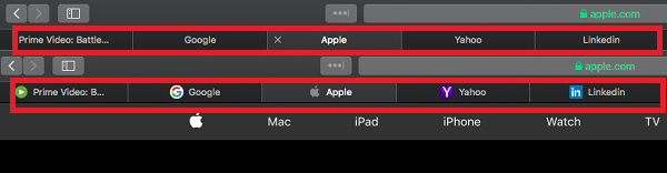 Favicon in Safari 12 macOS Mojave