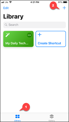 Create Shortcut in iPhone