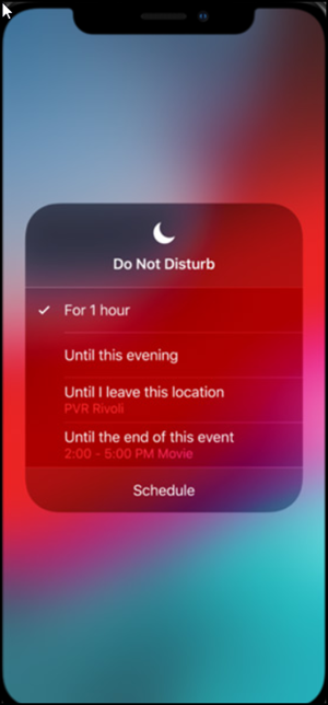 Do Not Disturb mode in iOS12