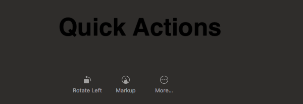 Quick Actions for Preview