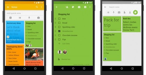 GOOGLE KEEP UI