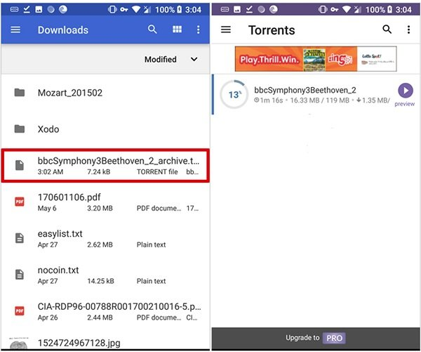 torrent download in android