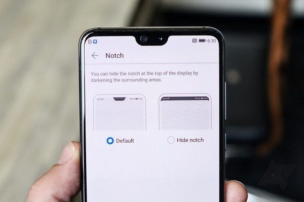 hide notch in redmi note 6 pro