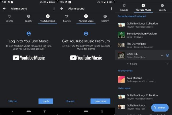 How to use Spotify or YouTube Music in Alarm Clock App (2)